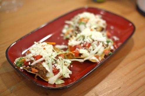 Beef brisket mini tostadas